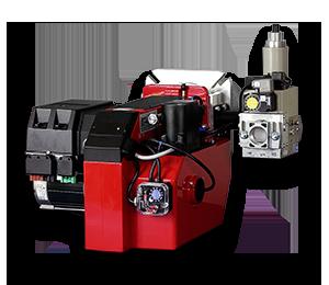Modulerande brännare som finns i versioner 120 - 550 kW
